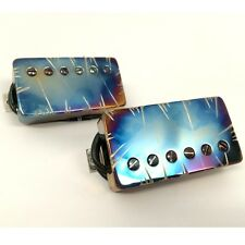 Bare Knuckle Nailbomb Humbucker Guitar Pickup Set Burnt Chrome Battleworn Covers