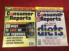 CONSUMER REPORTS MAGAZINE 2002 - JUNE-OCT (MAGAZINES/1015105) SET LOT OF 2