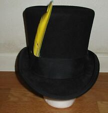 Vintage New York Hat Co Mad Hatter Black Top hat wth Feathers