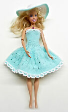 Lovely Summer Handmade Dress with Hat for Barbie Doll
