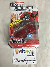 NEW Transformers Prime Robots in Disguise Deluxe Class Cliffjumper 2 DAY GET