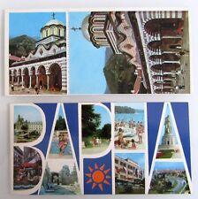 2x Bulgarien Europa Sonderformat Postkarten von VARNA und Rila Kloster Postcards