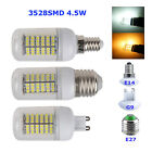 E27 E14 G9 3528 SMD 3W 4W 5W LED Corn Bulb Lamp Warm/White Globe Light 220V-240V