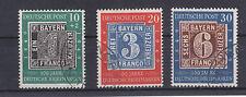 Germany Bund BRD 1949 Mi 113-115 o gest. 100 Jahre Deutsche Briefmarken