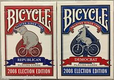 2008 Election 2 Deck Set Bundle Bicycle Playing Cards Poker Size USPCC Limited