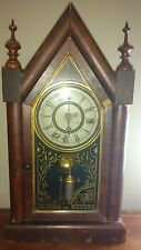ANTIQUE JEROME GOTHIC STEEPLE CLOCK  CATHEDRAL