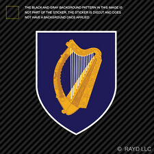 Irish Coat of Arms Sticker Decal Self Adhesive Vinyl Ireland flag IRL IE