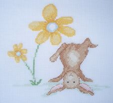 KL135 Bunny Handstand! Buttercup Rabbit Cross Stitch Kit by Genny Haines