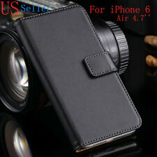 Luxury Genuine Real Leather Flip Case Wallet Cover For iPhone 6 4.7