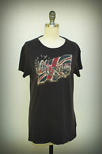 LUCKY BRAND TEES TRIUMPH Size Medium British Union Jack Flag 1960 TR7/B