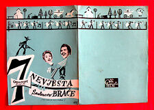 SEVEN BRIDES FOR SEVEN BROTHERS 1954 JANE POWELL HOWARD KEEL EXYU MOVIE PROGRAM