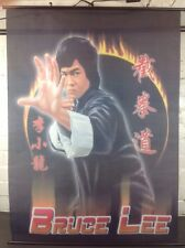 Vintage Bruce Lee Wall Fabric Poster Made in Poland Martial Arts