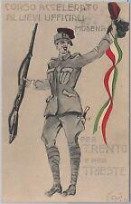 CARTOLINA d'Epoca - PUBBLICITARIA : Modena CORSO ACCELERATO UFFICIALI 1915