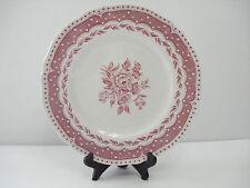 """Vintage Grindley Creampetal Red Avon 10"""" dinner plates set of four"""