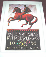 1956 STOCKHOLM off. Olympic Games POSTER  Vintage Repro FREE S/H Thick stock NOS