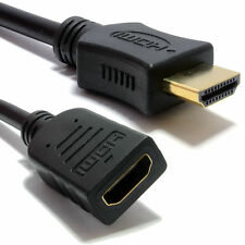 10m HDMI EXTENSION Cable Male to Female v1.4 3D High Speed With Ethernet BLACK