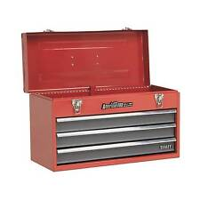 Sealey Tool Chest 3 Drawer Portable With Ball Bearing Runners-Red/Grey- AP9243BB
