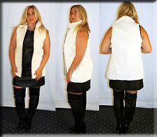 New Off White Sheared Beaver Fur Vest Size Medium 6 8 M