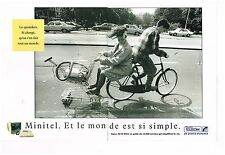 Publicité Advertising 1989 (2 pages) France Telecom Minitel par Peter Korniss