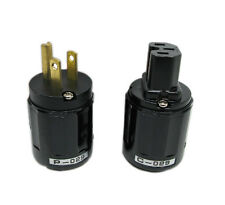 1 Pair New P-029 US Power Plug + C-029 IEC Connector for Audio