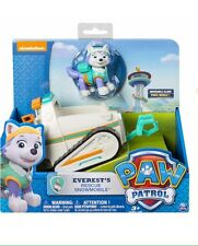 New The Nickelodeon Paw Patrol Everest's Rescue Snowmobile Vehicle and Figure