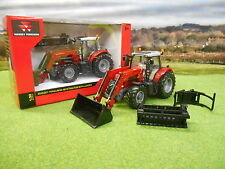 BRITAINS MASSEY FERGUSON 6616 4WD TRACTOR & LOADER + 3 BUCKETS 1/32 43082A1