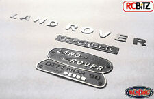Land Rover Defender D90 Emblema Logotipo Set Gelande 2 Gii RC4WD 10th Escala Juguete De Metal