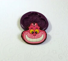 Silicone Mold Cheshire Cat Mould (32mm) Fondant Cupcake Topper Polymer Clay Fimo