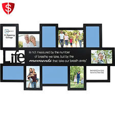 Collage Picture Frames Multi Family Picture Photo Wall Lot Home Art Frame Black