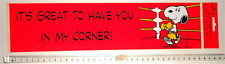 SNOOPY Peanuts by Schulz 70s Hallmark big sticker :it's great to have you...boxe