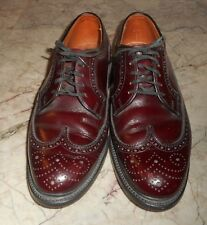 Auth Quoddy Made USA Mens Vintage Shoes Oxfords Florsheim Imperial Wingtip Shell
