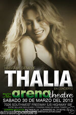 THALIA 2014 HOUSTON CONCERT TOUR POSTER - Queen Of Latin Pop Music, Mexican Star