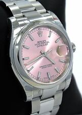 ROLEX DATEJUST 116200 LADIES 36mm OYSTER PERPETUAL PINK STICK DIAL *BRAND NEW*