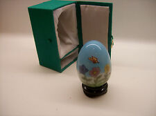 HAND PAINTED GLASS EGG