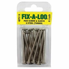 Fix-A-Loo Timber Floor Pan Screws Stainless Steel - 12pc