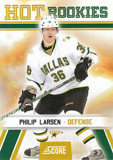 10/11 SCORE HOT ROOKIE RC #534 PHILIP LARSEN STARS *3476