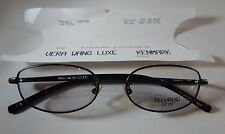 Vera Wang Luxe Wafer MT Black 50/16 Eyeglass Frame New