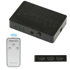 3 Ports HDMI1080P 3D Switch HUB Splitter Switcher With Wireless Remote Control