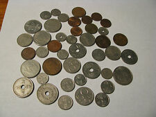 Collection of 43 Assorted Vintage Foreign Coins