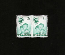 1956 RVN South Vietnam 2 Stamps MNH United Nations Operation Brotherhood 2D Gree