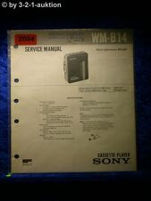Sony Service Manual WM B14 Cassette Player (#2094)