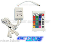 24 Key 16 Color IR Remote Control Controller SMD RGB LED Strip 12V 4-Head Flat