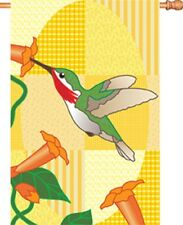 """Hummingbird and Morning Glory House Size (28"""" x 40"""" Approx) Flag PR 52522"""
