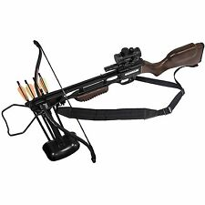 Jaguar 175lbs Recurve Archery Crossbow Red Dot Scope Package - Wooden