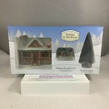 Dept 56 Holiday in the Woods CABIN GIFT SET 5 Items NIB 4057069