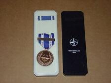 USMC Marine Dress Blue / Greens ISAF Medal in Case