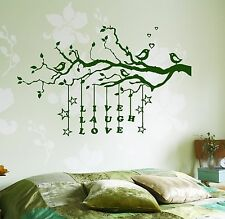 Wall Decal Tree Branch Live Laugh Love Vinyl Sticker (z3633)