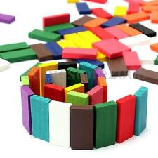 120Pcs 12 Colors Authentic Standard Wooden Dominoes Run Board Kids Game Toy Gift
