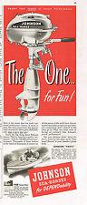 """Outboard Motor Johnson Sea Horse 1948 paper ad 5½ x 14"""" inch Tavern Trove"""