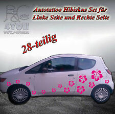Aufkleber Set 28-teilig,Autotattoo,Hibiskus,Blumen,Tuning,Sticker,Tattoo,Styling